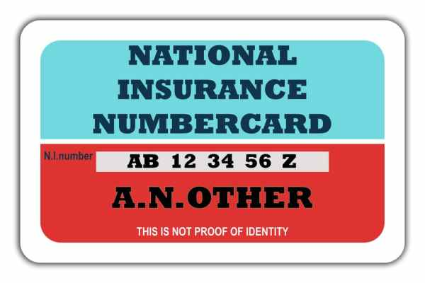 National Insurance Card NIC