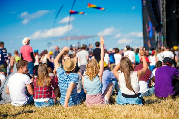 People enjoying an outdoor festival