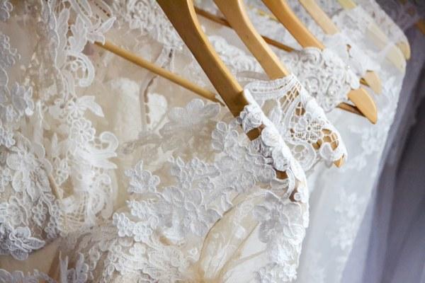 Wedding Dresses on a rail