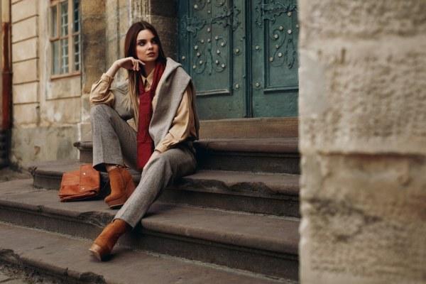 Model wearing designer fashion