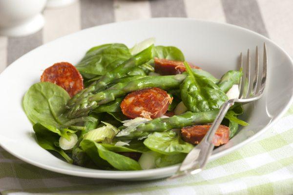 Asparagus Chorizo Salad