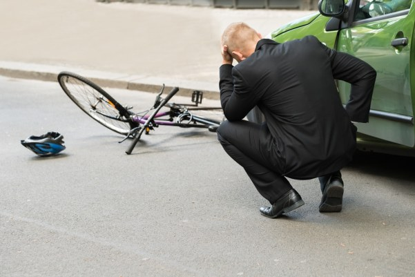 Man upset over ruined bike after a car accident