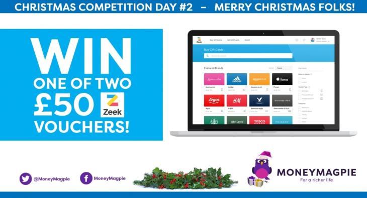 Day 2 – Win one of two £50 Zeek vouchers