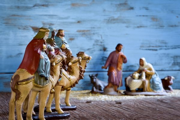 Christian Christmas Nativity scene