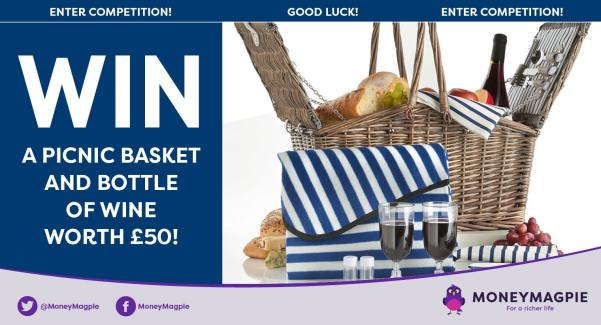 Win a picnic basket and bottle of wine worth £50