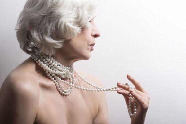 Elderly female life model