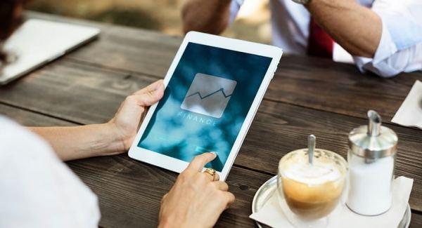 Finance plan on tablet