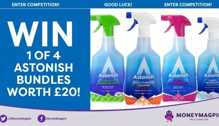 Win 1 of 4 Astonish bundles worth £20
