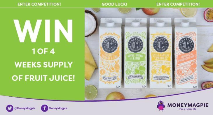 Win 1 of 4 weeks supply of fruit juice