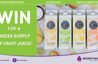Win 1 of 4 one weeks supply of fruit juice