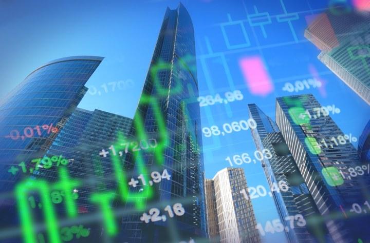 Stock market economy concept image
