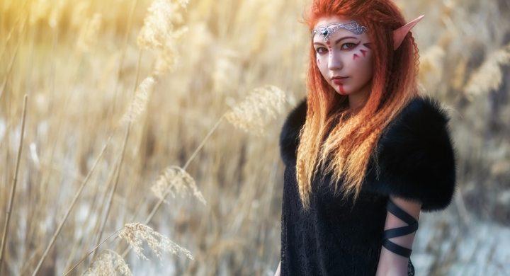 Female Cosplay Model dressed as Elf