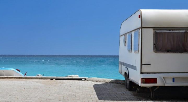 Caravan by the sea