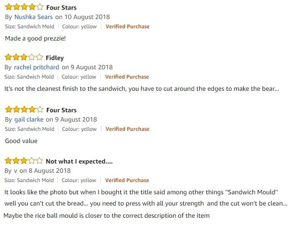 Teddy Sandwich Cutter Reviews