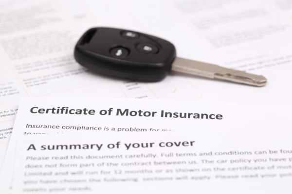 Car insurance documents