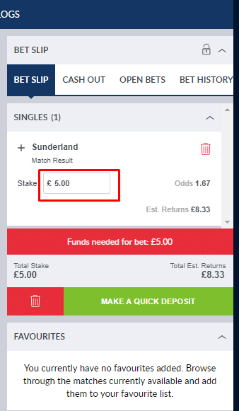 Matched Betting Coral Screenshot