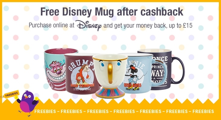 Free Disney Mug after cashback at shopDisney