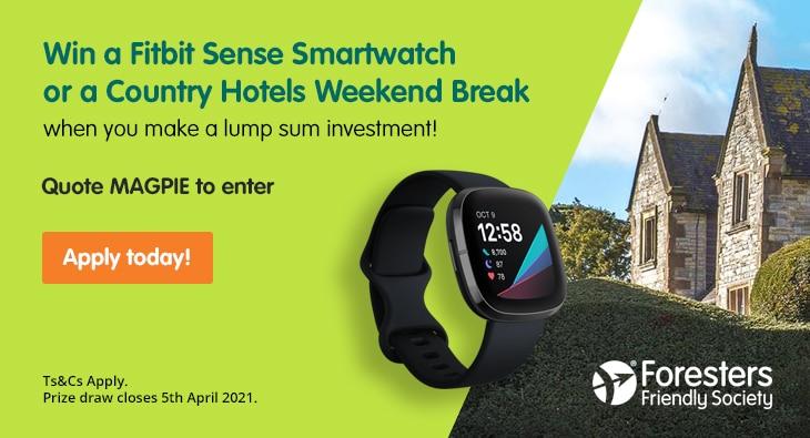 Win a Fitbit Sense Smartwatch or a Country Hotels Weekend Break
