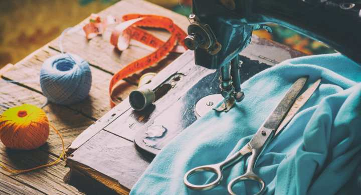 Use a hobby like sewing to help survive on a fluctuating income