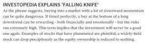falling knife