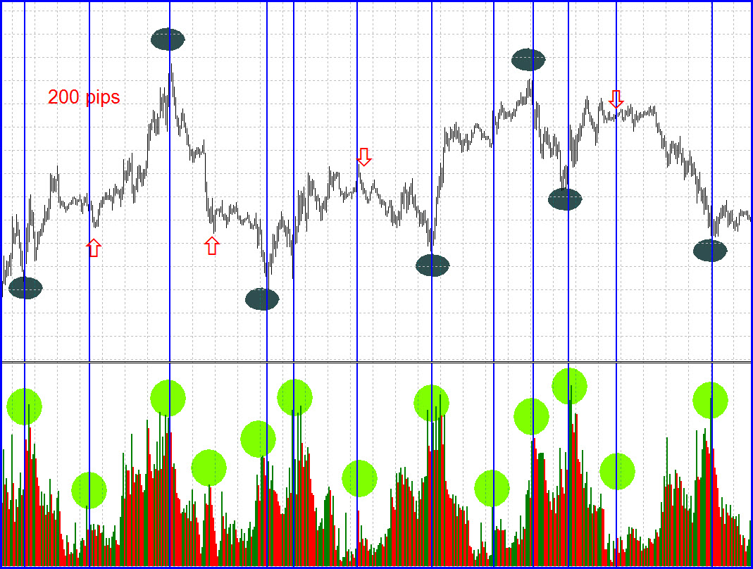 Time segmented volume forex
