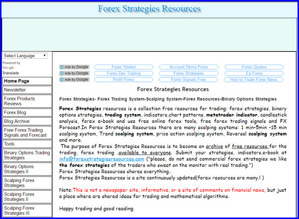 forexstrategiesresources.com has the best resources and strategies