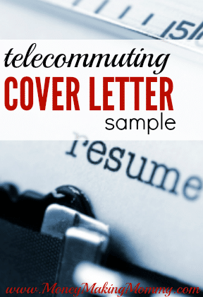 Free Resume Cover Letter Sample for Telecommuting