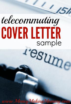 Telecommuting Cover Letter Sample