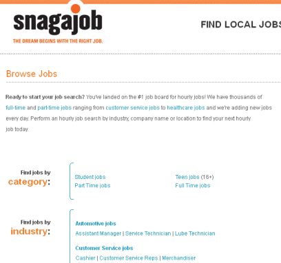 the best part of snagajob is the diversity of the job opportunities professionals from every industry are represented through applicants and job listings - Find Local Jobs Using Local Job Search Sites