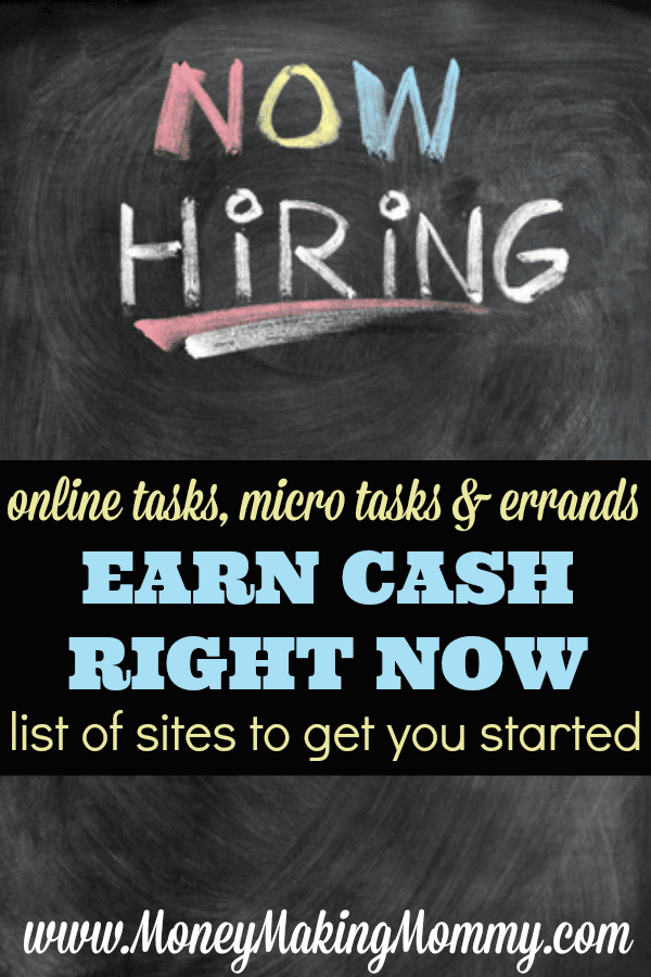 Earn Cash Doing Online Tasks or Errands