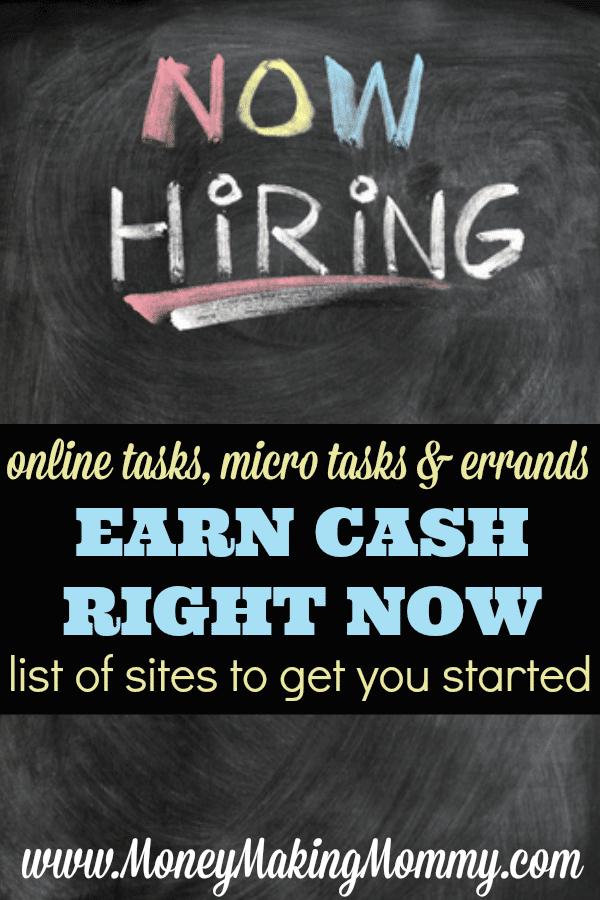 Earn Cash Doing Online Tasks or Errands