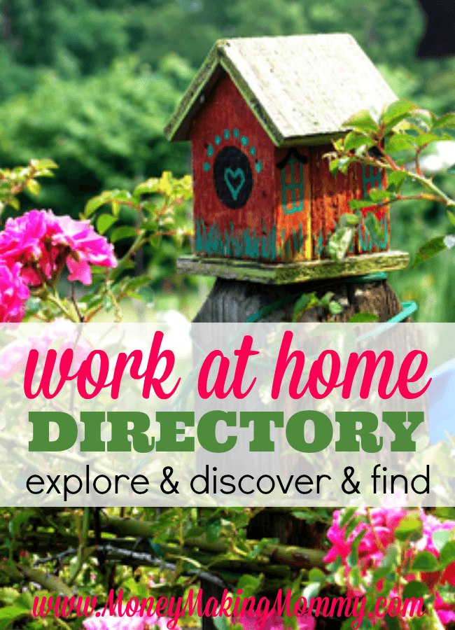 Work at Home Jobs Directory