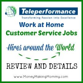 teleperformance hiring work at home customer service jobs