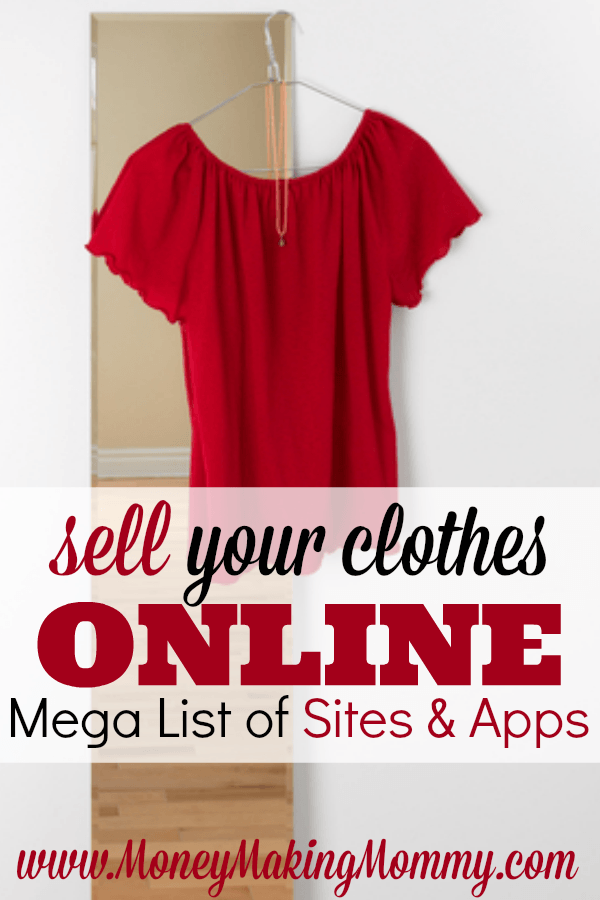 Sell clothes online using one of these apps. They make it easy to snap pictures and start selling. Some of these apps even let you sell more than just clothes. But this is a great way to clear out clutter and earn a little (or a lot) of cash in the process. - MoneyMakingMommy.com -  https://www.moneymakingmommy.com/sell-your-clothes/ #sellclothes #app #online #pictures