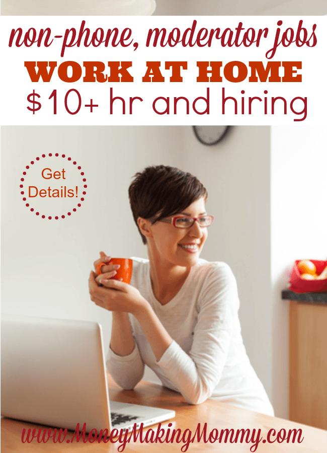 Work at Home Social Media Moderator Jobs