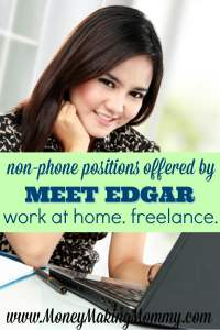 Work at Home Jobs at Meet Edgar