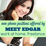 Meet Edgar Offers Some Non-Phone Work at Home Positions