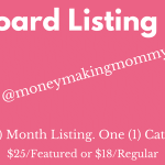 Work at Home Job Board Listing Form