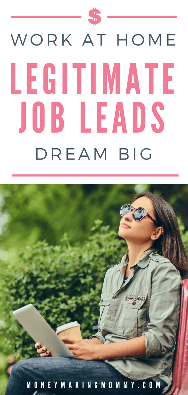 Your free ticket to 100's of work at home job leads. Fresh online jobs posted every day. Find legitimate work from home jobs that you can actually apply for. -MoneyMakingMommy.com -  https://www.moneymakingmommy.com/work-from-home-job-leads-board/ #workfromhomejobs #workfromhomejobslegitimate