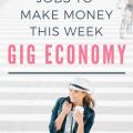 List of Gig Economy Jobs