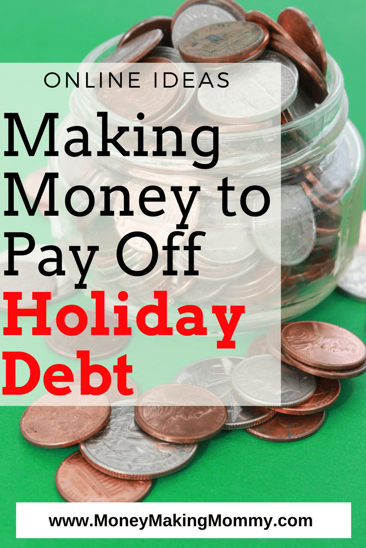 Pay off holiday debt quickly be making extra money online right from home! Big list of ideas!