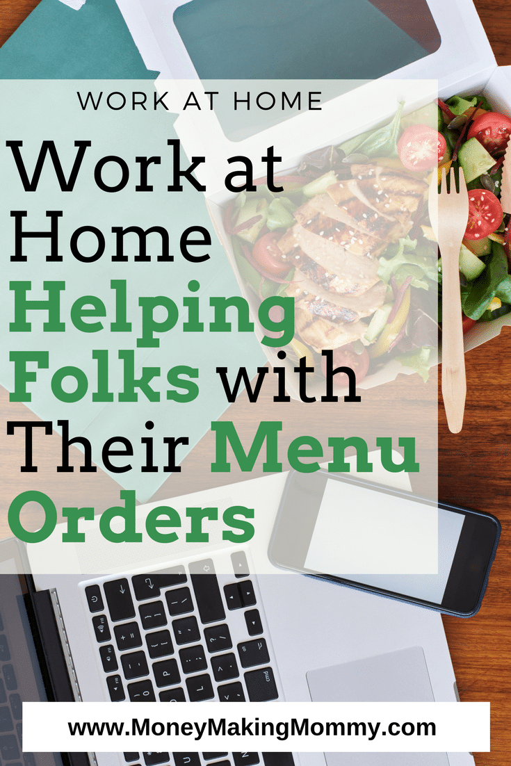 Work at Home Taking Menu Orders