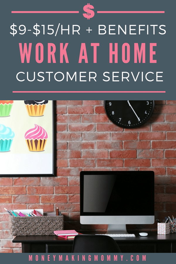 Work at home customer service positions that offer benefits like health insurance, 401k, paid vacation days and more. Learn more about this work at home idea that would be great for moms that want to make money from home.  #workfromhome #jobs #mom #legitimate #benefits