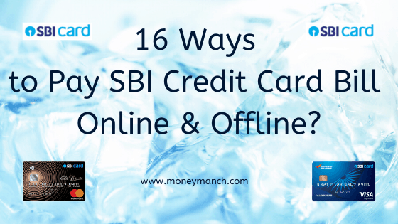 want to pay online sbi credit card bill