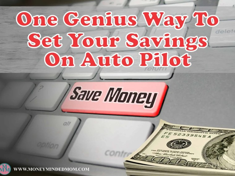 One Genius Way to Set Your Savings on Auto Pilot ~ Setting your savings on auto pilot is the easiest way go. Let me share with you one of the easiest ways I have done that.