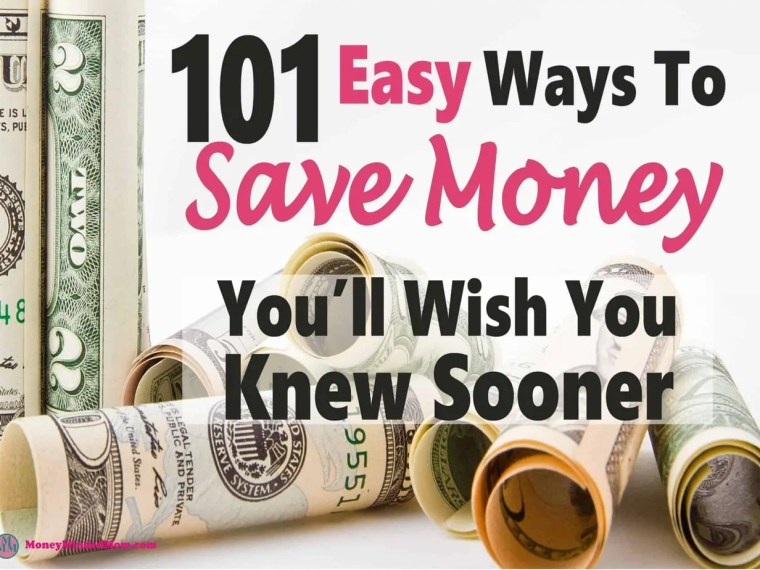 Saving money doesn't have to be so hard. There are plenty of small things you can do that will add up to big savings. Read 101 Easy Money Savings Tips to find out how. saving money | money | money saving | finance | debt | how to save money #money #savemoney #finance #moneytips