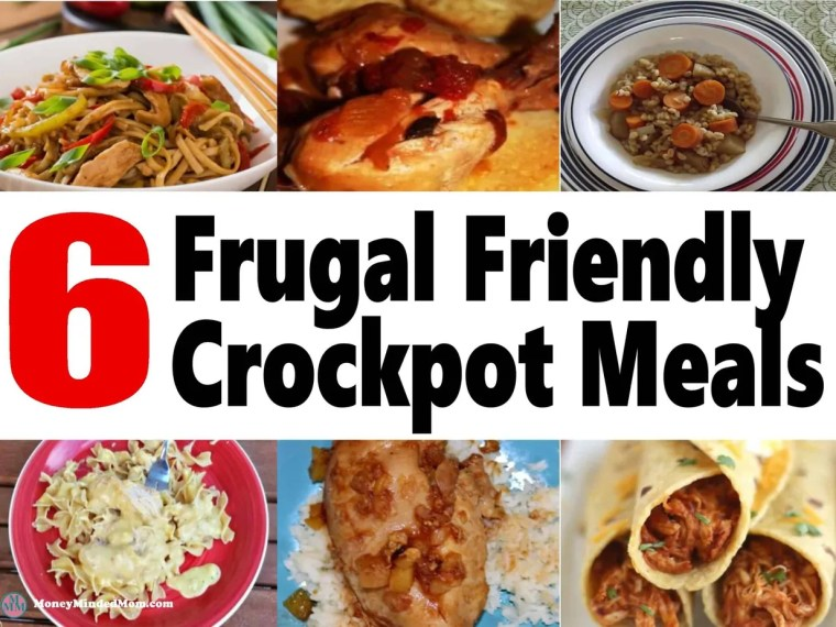 6 Frugal Friendly Crock Pot Meals ~ Crock pot meals are a great time and money saver in the kitchen. Check out these 6 delicious crockpot recipes that your family is sure to love!! crockpot   slowcooker   meal planning   cheap meals   frugal recipes   recipes #crockpot #mealplanning #cheapmeals #recipes