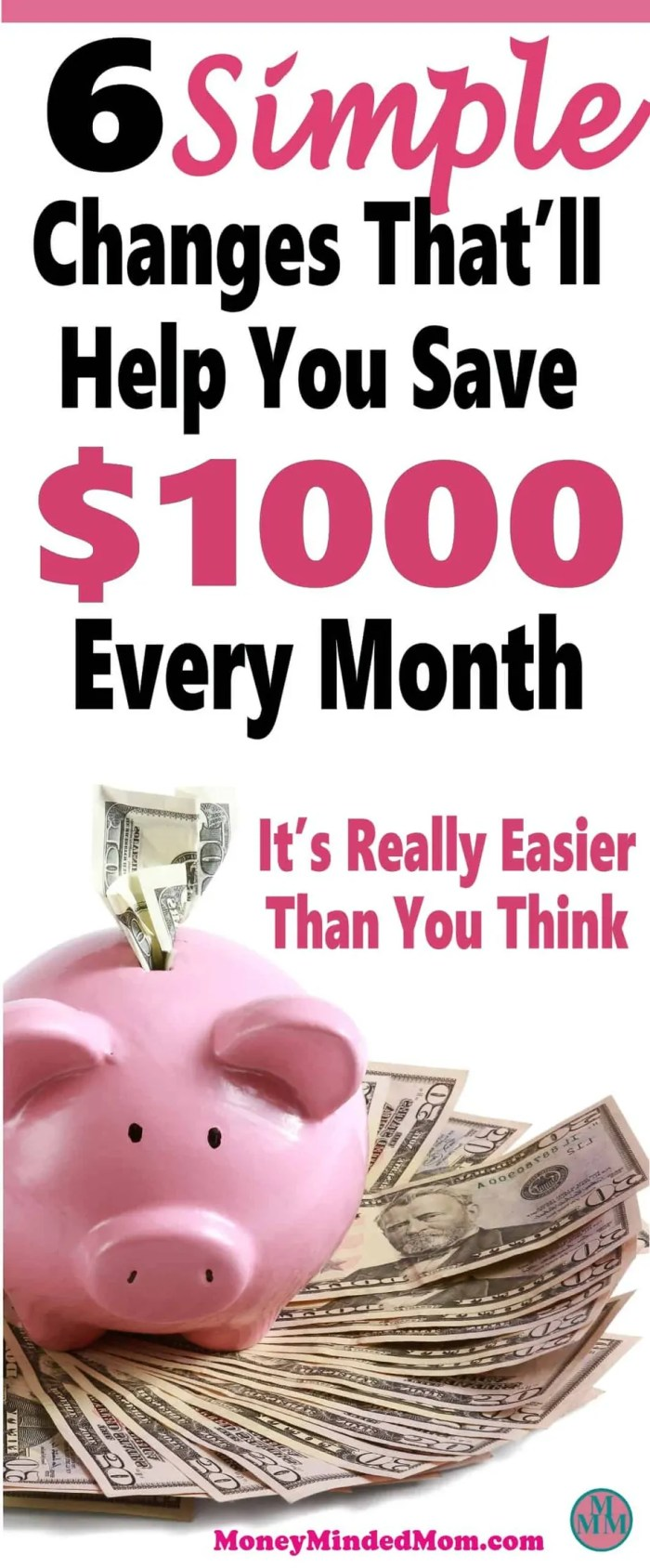 Saving an extra $1000 a month might seem like an impossible task, but it really isn't. Small changes go a long way to saving money, balancing your budget and managing money. Read on to learn how small changes can really add up to a huge amount of money saved. Saving Money | Money Saving Tips | Finance | Get Out Of Debt | saving money | money | saving money tips | money saving tips | money saving ideas | frugal living | thrifty living #savingmoney #money #finance
