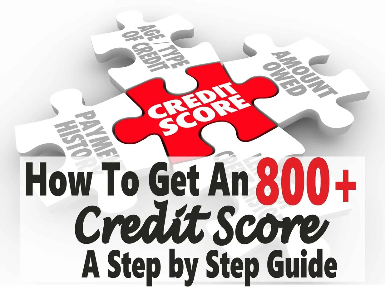 looking for ways to improve your credit score hoping to get to an 800 credit