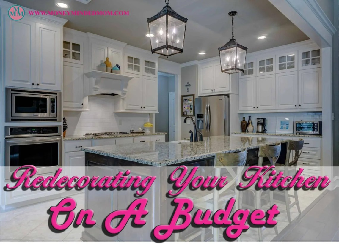 DIY- Redecorating Your Kitchen On A Budget Often people become bored with the colors and styles of decor' in their homes. One easy fix is redecorating your kitchen on a budget.